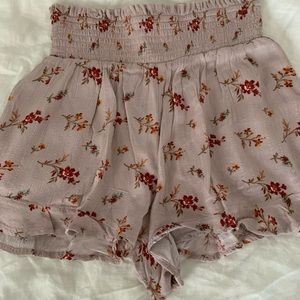 AE Floral Smocked Shorts